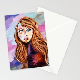 Girl With Blue Eyes Stationery Cards
