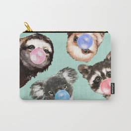 Cute Animals Bubble Gum Gang in Green Carry-All Pouch
