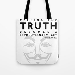 Truth Revolution - V for Vendetta Tote Bag