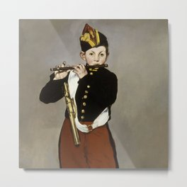 """Édouard Manet """"The Fifer"""" or """"Young Flautist"""" Metal Print"""