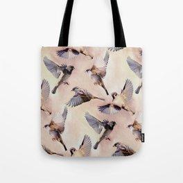 Sparrow Flight Tote Bag