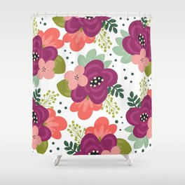 Blooming Florals Shower Curtain