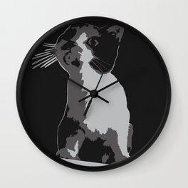 A Curiosity Amongst Cats Wall Clock