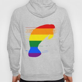 Rainbow Manatee Hoody