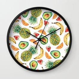 Crazy About Fruit Wall Clock