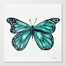 Turquoise Butterfly Canvas Print
