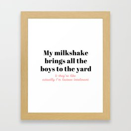 My Milkshake Framed Art Print