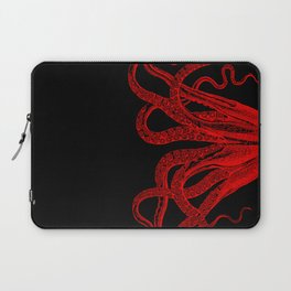 Red Vintage Octopus  Tentacles Illustration Laptop Sleeve
