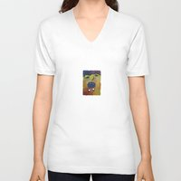 scream V-neck T-shirts featuring Scream! by Janko Illustration