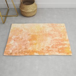 Marbling structur in warm orange tones Rug