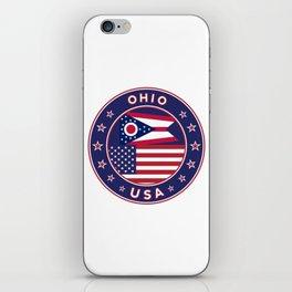 Ohio, USA States, Ohio t-shirt, Ohio sticker, circle iPhone Skin