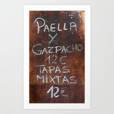 TAPAS Art Print