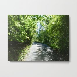 Just Around the Garden Bend Metal Print