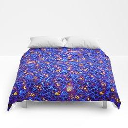 Blue Sub-atomic Lattice Comforters