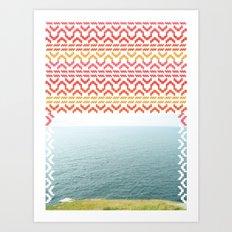 AZTEC 'Beyond The Sea' 1-1 Art Print