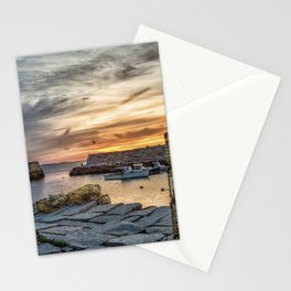 Lobster Trap sunset at lanes cove Stationery Cards