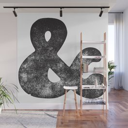 Letter Pressed Vintage Ampersand Wall Mural