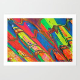 The Manipulation Of Paint #7 Art Print