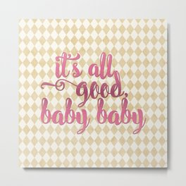 Chic Gold Harlequin - It's All Good Metal Print