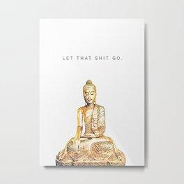 Hobbie Yoga Metal Print