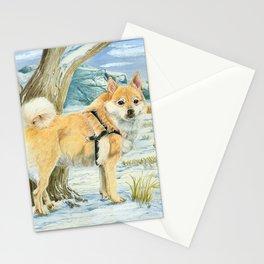 Norwegian Buhund Working Stationery Cards