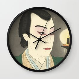 Japanese Ukiyo-e Wall Clock