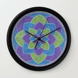 Metallic Petals Wall Clock