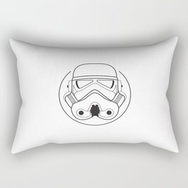 Stormtrooper from Galactic Empire. Rectangular Pillow
