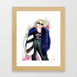 Suck My Xtina Framed Art Print