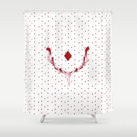 poker Shower Curtains featuring POKER DIAMONDS by Noly Riv Mir