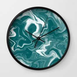 Teal Marble Wall Clock