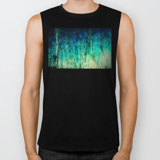 forest reflected Biker Tank