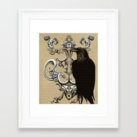 raven Framed Art Prints featuring Raven by Кaterina Кalinich