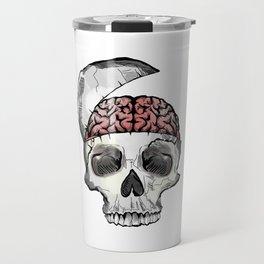 Hinged Skull with Brain Travel Mug
