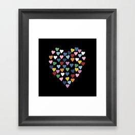 Hearts Heart Black Framed Art Print