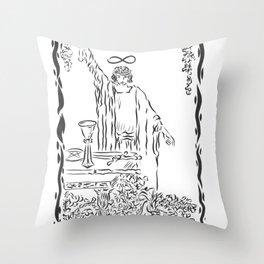 THE MAGICIAN TAROT CARD Throw Pillow