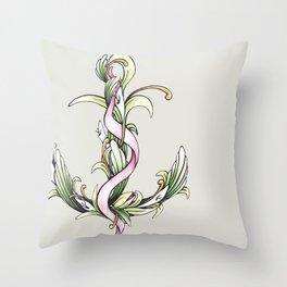 Anchor (color) Throw Pillow
