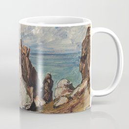 Cliffs By The Sea At Cezembre, Brittany - Eugene Isabey Coffee Mug