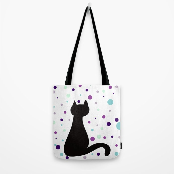 Black Cat Party! Tote Bag