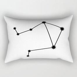 Libra Star Sign Black & White Rectangular Pillow