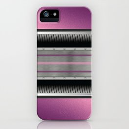 Pink Purple Metallic Accented By Black Chrome Steampunk Jaws iPhone Case
