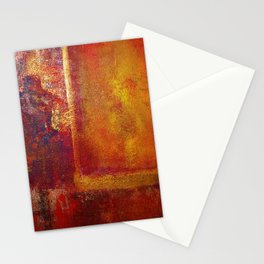 Abstract Art Color Fields Orange Red Yellow Gold by Philip Bowman Stationery Cards