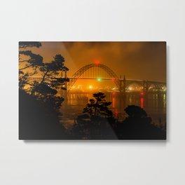 Yaquina Bay Bridge, Newport, Oregon Metal Print