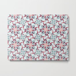 Pointy Pinwheel Metal Print