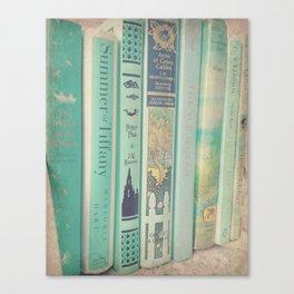 Aqua Mint Books Canvas Print