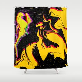 Yellow Point Shower Curtain