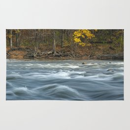 Autumn colors and water flowing on the Thornapple River Rug