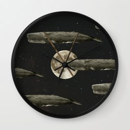 Spacewhales Wall Clock