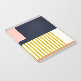 Sol Abstract Geometric Print in Multi Notebook