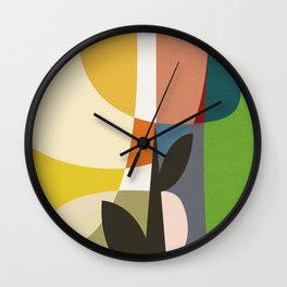 mid century garden II Wall Clock